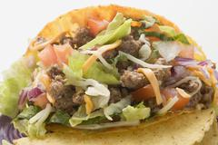 Taco with mince filling (close-up) Stock Photos