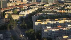 Panoramic view of Prague 4 Stock Footage
