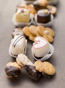 Assorted biscuits and petits fours Stock Photos