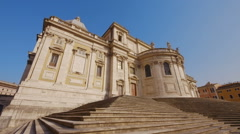 Basilica Santa Maria Maggiore, Rome Stock Footage