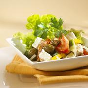 Greek salad with croutons Kuvituskuvat