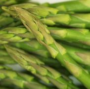 A bundle of green asparagus (filling the picture) Stock Photos