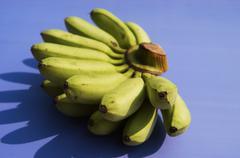 A bunch of mini bananas Stock Photos