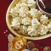 Anise meringues for Christmas Stock Photos