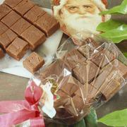 Home-made mocha toffees, some gift-wrapped Stock Photos