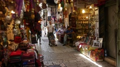 An alley in the old city Stock Footage
