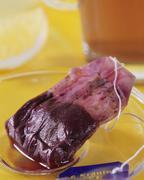 Fruit herb tea - tea bag and in glass with lemon Kuvituskuvat