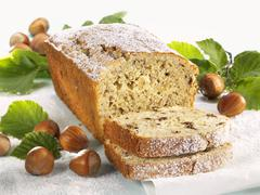 Hazelnut loaf Stock Photos