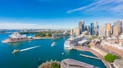 4k timelapse video of Circular Quay in Sydney CBD in daytime Stock Footage