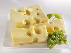 French Emmental cheese Stock Photos