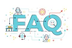 FAQ : Frequently asked questions Stock Illustration