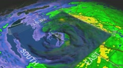 Hurricane Ivan Eye 3D Radar Stock Footage