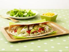Burritos with halibut and avocado Kuvituskuvat