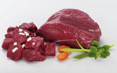 Diced meat Stock Photos