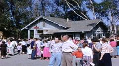 Knott's Berry Farm Crowd at Amusement Park - 1950s Stock Footage
