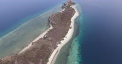 Tropical island aerial shot - 17 Islands Marine Park - Riung, Indonesia Stock Footage