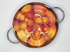 Apricots in a colander Stock Photos