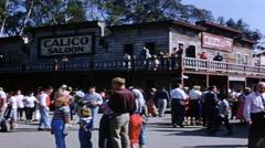 Knott's Berry Farm Calico Saloon Stock Footage