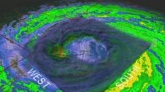 Hurricane Ike Eye 3D Radar Stock Footage