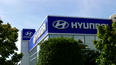 Hyundai automobile dealership in Port Coquitlam BC Canada Stock Footage