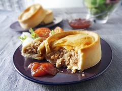 Scotch pie (Minced lamb pie, Scotland) Stock Photos