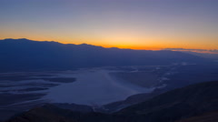 Time Lapse of Sunset Afterglow over Badwater in Death Valley -Tilt Down- Stock Footage