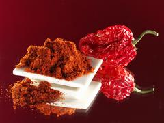 Paprika and dried red pepper Stock Photos