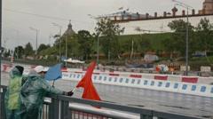 30 august 2016 Russia, Kazan - auto show Kazan City Racing, Day of City - staff Stock Footage