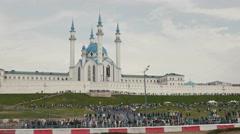 30 august 2016 Russia, Kazan - auto show Kazan City Racing, Day of City - crowd Stock Footage