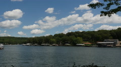 Clouds Over Lake of the Ozarks Daytime Timelapse Stock Footage