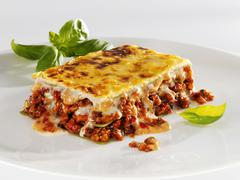 Lasagne made with mince Stock Photos