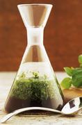 A carafe of mint sauce Stock Photos