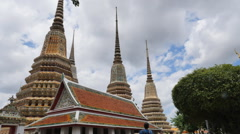 Wat Pho is one of Bangkok's oldest temples Stock Footage