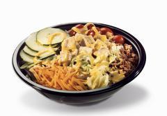 Cobb Salad in Plastic To Go Container Stock Photos