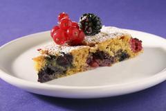 A slice of berry tart Stock Photos