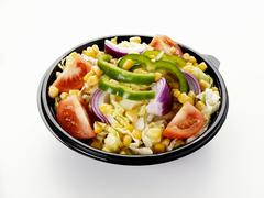 Mixed salad in a plastic container Stock Photos