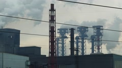 Flames and toxic fumes pollutes the environment Stock Footage