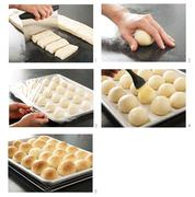 Making Dinner Rolls Stock Photos