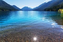 Crescent lake Stock Photos