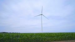 Wind generator. Wind power generation. Close up of wind generator Stock Footage