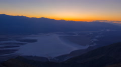 Time Lapse of Sunset Afterglow over Badwater in Death Valley -Pan Left- Stock Footage
