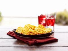 Crispy pepper chips Stock Photos