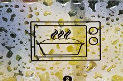 A microwave symbol Stock Photos