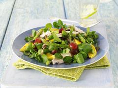 Watercress salad with mango Stock Photos
