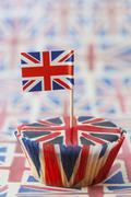A Union Jack cupcake Stock Photos