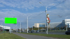 Billboard poster advertising.Urban landscape. 4K 30fps ProRes (HQ) Stock Footage