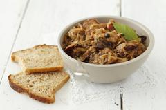 Bigos (sauerkraut with sausage and bacon, Poland) Stock Photos