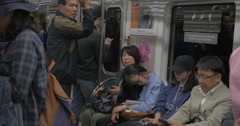 Traveling in Seoul by subway. South Korea Stock Footage