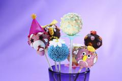 Assorted cake pops for a child's party Stock Photos