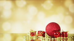 Christmas decorations on shiny background seamless loop Stock Footage